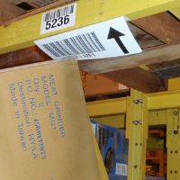 """4"""" by 8"""" long flexible label mount - Angled mount under or face - Choice of angle - (pkg of 25)"""