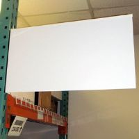 "12"" x 10"" Blank White Aisle Sign with Choice of Backing"