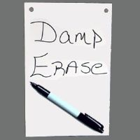 "8""h X 5""w Pre-Drilled Damp Erase Boards"