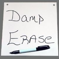 "8"" X 8"" Pre-Drilled Damp Erase Boards"