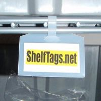 "1"" x 2"" One-Piece Wire Shelf Tag - Clear Only - (pkg of 25)"