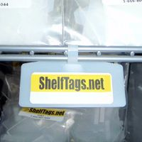"1-1/4"" x 3-3/8"" One-Piece Wire Shelf Tag - Clear Only - (pkg of 25)"