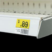 "1 1/4"" x 6"" Top Mount Metal Shelving Label Holder with Clear Front (pkg of 25)"