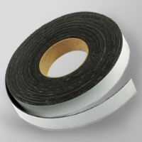 "3/4"" x 100' Flexible Magnetic Stripping Tape Roll with Adhesive Backing"