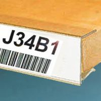 "1 1/4"" x 6"" Wood Shelving Label Holders (pkg of 25)"