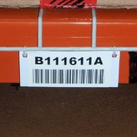 """1"""" x 4"""" Wire Rack Tag with Holes and Cinch Straps or Snap Rings- White - Pkg of 25"""