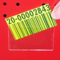 "4-3/8"" by 6-3/8"" Long Rack and Shelf Card Holder - Pkg of 25"