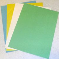 "13/16"" by 6"" long perforated card sheets"