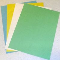 "1"" by 6"" long perforated card sheets"