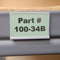 "1-1/4"" x 4"" Clear View Data Holders - Adhesive, Magnetic or Hook & Loop Backing- (pkg of 25)"