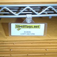 "1-1/4"" x 3-1/2"" One-Piece Quick Locking Wire Shelf Tag - Clear Only - (pkg of 25)"
