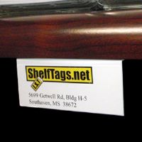 "1"" x 4"" Under Shelf Label Mounts - White - (Pkg of 25)"