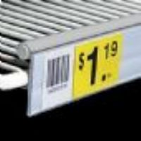 "1 1/4"" x 22"" Clear Double Wire Freezer Shelving Label Holder (Pkg of 10)"
